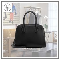 【The Row】Margaux 7.5 レザーブラックトートバッグ