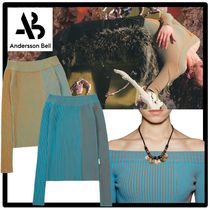 ★ANDERSSON BELL★HAILEY TWO-TONE OFF-SHOULDER KNIT TO.P★