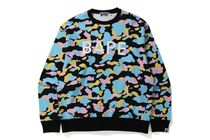 【A BATHING APE】MULTI  RELAXED FIT CREWNECK 全2色 在庫確認