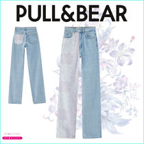 【PULL&BEAR】Straight paisley patchwork jeans 新作!