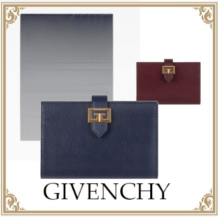 GIVENCHY☆GV3 WALLET IN LEATHER Gメタル Gold Navy/Eggplant (GIVENCHY/折りたたみ財布) BB601GB0YD-410