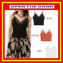 [OPEN THE DOOR]  lace crop sleeveless (3 color) /追跡付