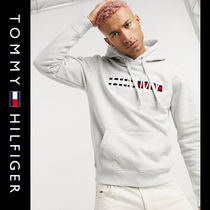 SALE【Tommy Jeans】フラッグロゴ パーカー グレー / 送料無料