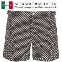 Alexander mcqueen skull dots swim trunks