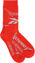 Vetements♪RED STRETCH COTTON BLEND SOCKS