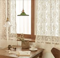 【DECO VIEW】Bay leaf knitting lace small window curtain
