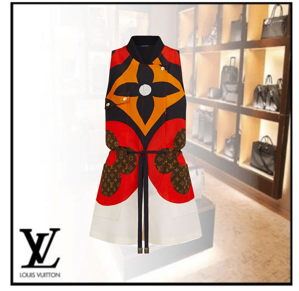 Louis Vuitton [オリジナリティ] シルク オールインワン (Louis Vuitton/オールインワン・サロペット) 1A8LXX