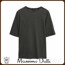 MassimoDutti♪COTTON AND LYOCELL TOP WITH BUTTONS