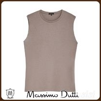 MassimoDutti♪COTTON TOP WITH SHOULDER PADS