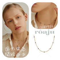 roaju【MAMAMOOムンビョル着用】silver925,lack spinel necklace