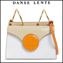 DANSE LENTE Mini phoebe embossed coco leather bag