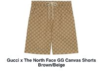 Gucci x The North Face GG Canvas Shorts Brown/Beige
