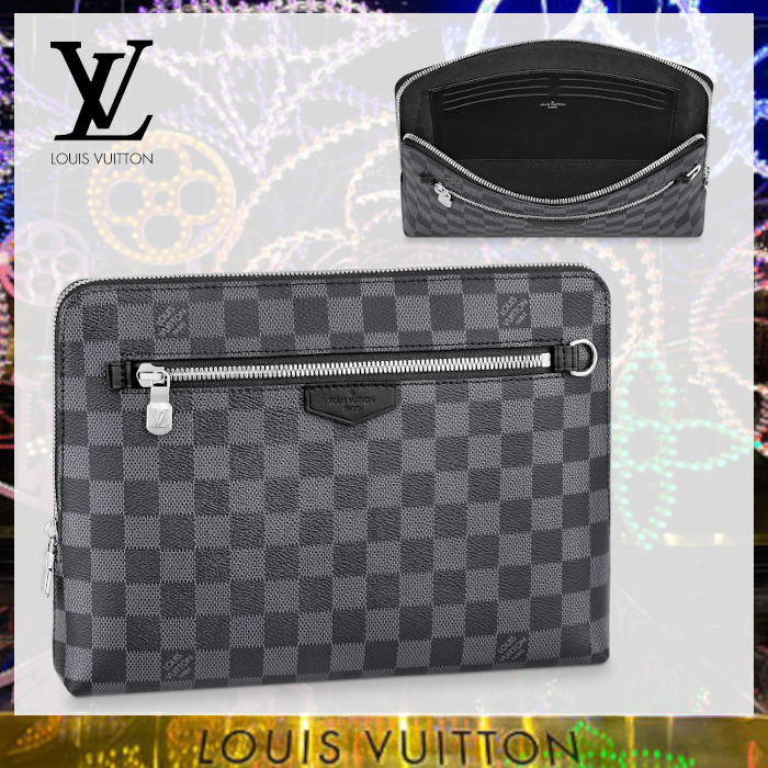 Louis Vuitton☆ ポーチ ダミエ・グラフィット クラッチ バッグ (Louis Vuitton/クラッチバッグ) N60417