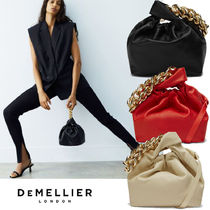 DEMELLIER 2wayバッグ THE SANTA MONICA WITH CHAIN