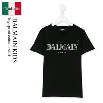Balmain Kids logo print cotton t-shirt