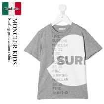 Moncler Kids Surfing print cotton t-shirt