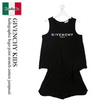 GIVENCHY(ジバンシィ) キッズワンピース・オールインワン Givenchy Kids holographic logo-print stretch cotton jumpsuit