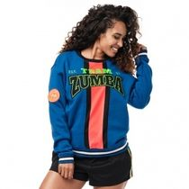 ★国内在庫 ズンバ Zumba Team Zumba Sweatshirt Surfs Up Blue
