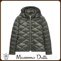 MassimoDutti♪QUILTED JACKET WITH HOOD