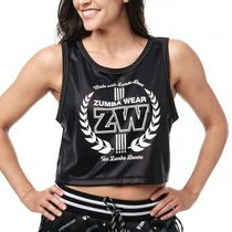 ★国内在庫★ ズンバ For Zumba Lovers Crop Tank Bold Black