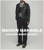 [MAISON MARGIELA] LEATHER BIKER JACKET (送料関税込み)