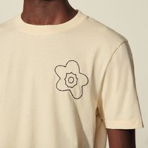 """sandro(サンドロ) Tシャツ・カットソー """"sandro homme"""" Cotton T-Shirt With Embroidery Ecru"""