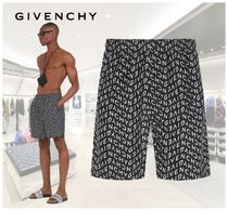 GIVENCHY  ロゴ REFRACTED ロングスイムショーツ