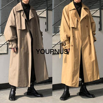 Strap Balloon Trench Coat (3Colors)