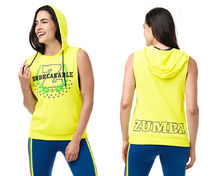 新作♪ズンバ Zumba Unstoppable Sleeveless Hoodie - Caution