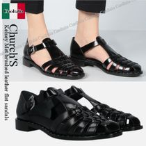 Church's(チャーチ) サンダル・ミュール Church'S Kelsey Met brushed leather flat sandals