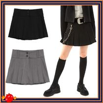 [OPEN THE DOOR]  button pleats skirts  ◆全2色◆追跡付