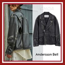 【ANDERSSON BELL】UNISEX OVERSIZED WESTERN LEATHER JACKET W