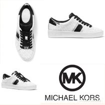 【MICHAEL KORS】 Keaton Logo and Brushstroke Stripe Sneakers