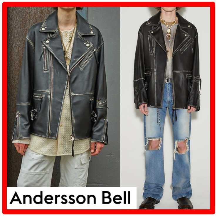 【ANDERSSONBELL】★UNISEX OVERSIZED WESTERN LEATHER JACKE.T (ANDERSSON BELL/レザージャケット) 65657899