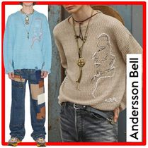 【ANDERSSON BELL】★LINEN EMBROIDERY FACE CREWNECK SWEATE.R