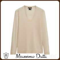 MassimoDutti♪WOOL AND LYOCELL SWEATER WITH GATHERED SHOULDE