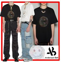 ANDERSSON BELL(アンダースンベル) Tシャツ・カットソー ☆【ANDERSSON BELL】☆UNISEX SMILE EARTH EMBROIDERY T-SHIR.T