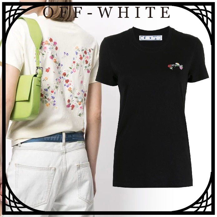 Off-White  フローラルロゴ Tシャツ 関税送料なし (Off-White/Tシャツ・カットソー) OWAA049R21JER0036184  OWAA049R21JER0031084