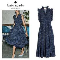 【KATE SPADE】Out West Wild Rose フリル ラップドレス☆