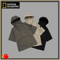[NATIONAL GEOGRAPHIC] Woven half pullover jumper/追跡付