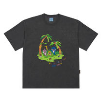 [PINKFONG BABY SHARK X ADLV] JUNGLE FAMILY Short Sleeve Gray