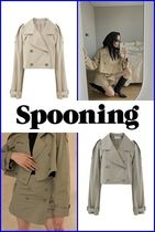 [ SPOONING ] REWORK TRENCH CROPPED JACKET ●