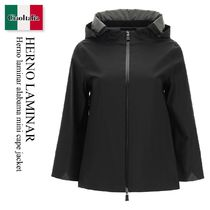 Herno laminar alabama mini cape jacket