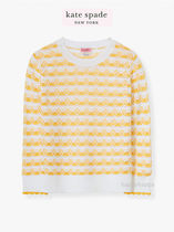 【kate spade】サイズ豊富*striped pointelle sweater