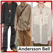 ANDERSSON BELL(アンダースンベル) シャツ ★人気★ANDERSSONBELL★COLLARLESS EMBROIDERY COTTON SHIRT.S