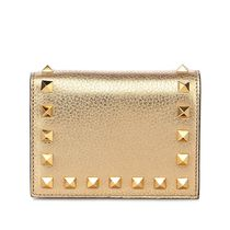【VALENTINO】 Rockstud Flap French Wallet