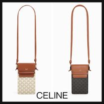 【CELINE】直営/正規店 TRIOMPHE CANVAS フォーン ポーチ 2色