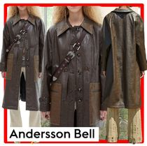 ANDERSSON BELL(アンダースンベル) レザージャケット・コート ☆【ANDERSSONBELL】☆AMBER FAUX LEATHER COMBO COA.T☆