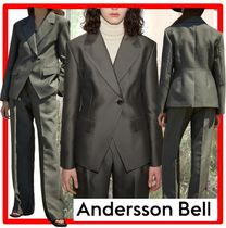 ANDERSSON BELL(アンダースンベル) ジャケット ☆【ANDERSSON BELL】☆WOOL SILK ONE BUTTON JACKE.T☆