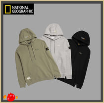 [NATIONAL GEOGRAPHIC] Lukos small logo hooded T-shirt/追跡付